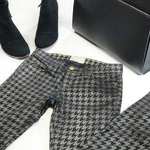 •CURRENT/ELLIOTT• Skinny Ankle Houndstooth Pant